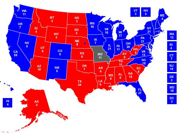 Republican States Map My Blog United Political Swing