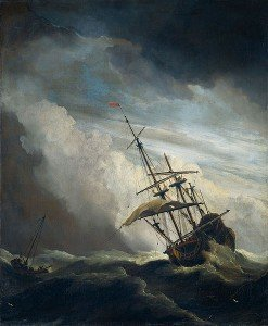 foundering ship