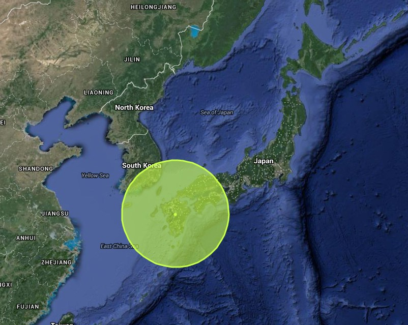 Location of the quake. Via Japan Quake Map.