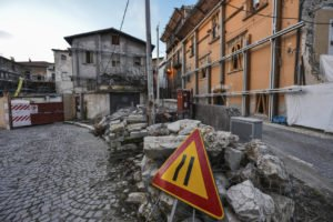 L'Aquila in Abruzzi, years after the earthquake.