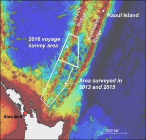 GNS Science and Niwa scientists will map a previously uncharted section of the Colville Ridge.