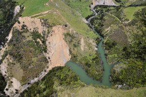 Medway River landslide dam. GeoNet.